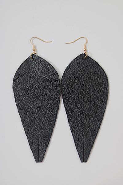 Black Toucan Feathered Earrings