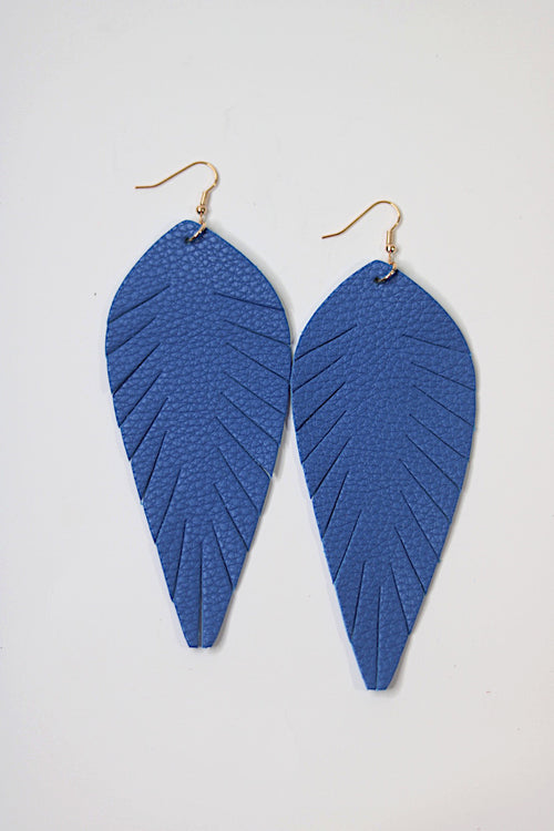 Blue Toucan Feathered Earrings