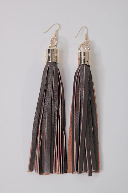 Brown Sugar Tassel Earrings
