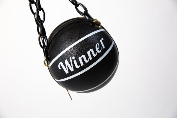 Winner's Circle Black Basketball Handbag