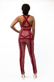 Raspberry Racer Jumpsuit