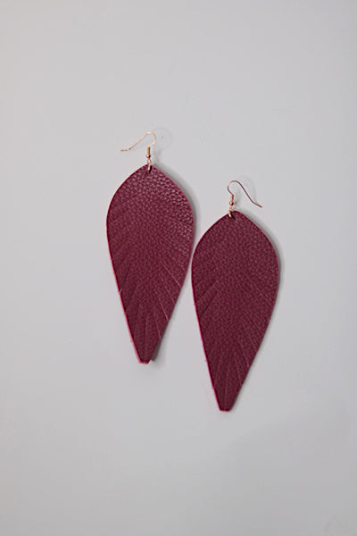 Red Toucan Feathered Earrings