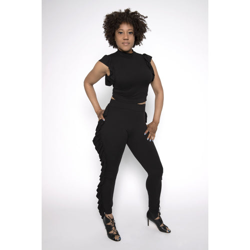 Black Beauty Frill Jogger
