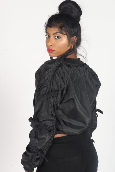Black GI Jane Bomber Jacket