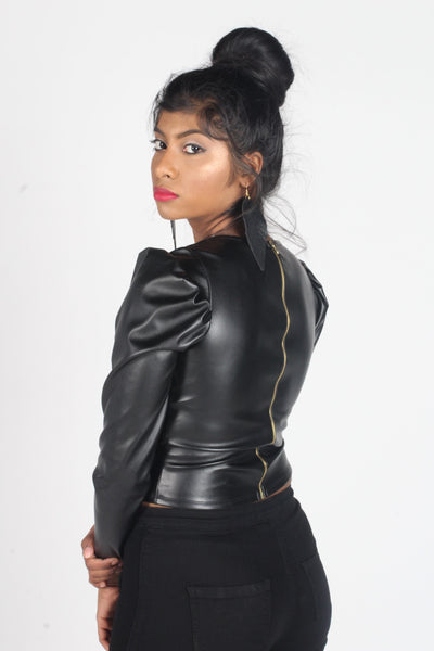 Giselle Leather Top