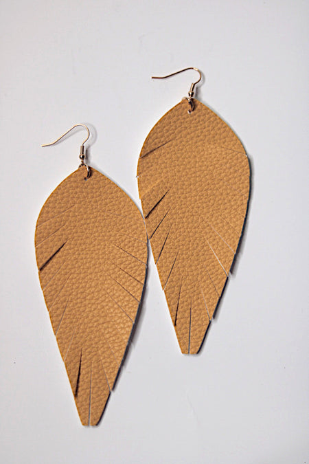 Gold Toucan Feathered Earrings