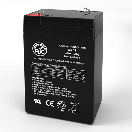 Leoch DJW6-4.5 6V 4.5Ah Sealed Lead Acid Replacement Battery