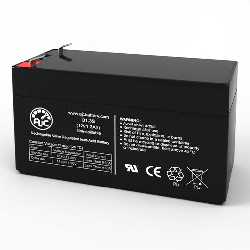 Clockmate PSLA1201.2 12V 1.3Ah Sealed Lead Acid Replacement Battery