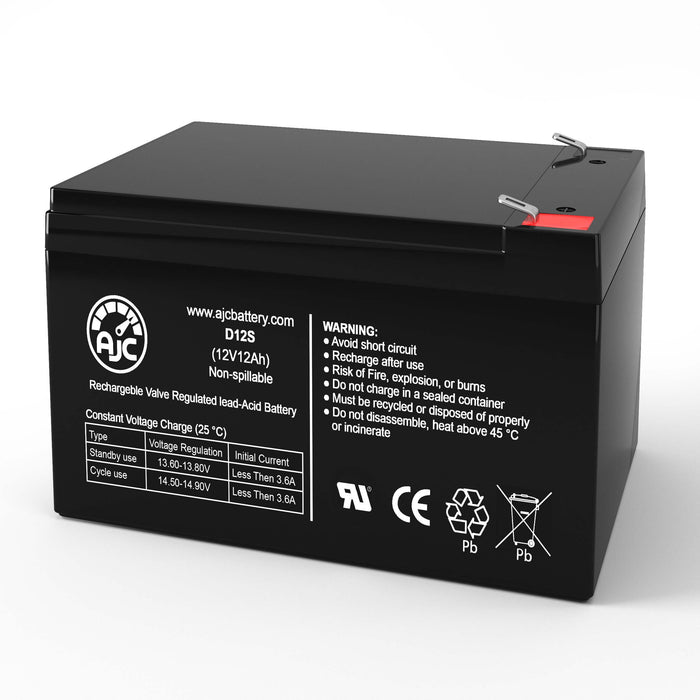 Currie EZ-TRZ-BR-W ezip Trailz Electric Bicycle 12V 12Ah Electric Bicycle Replacement Battery