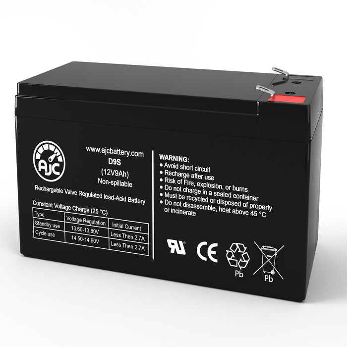 Fire Control Instruments 1002311A 12V 9Ah Alarm Replacement Battery