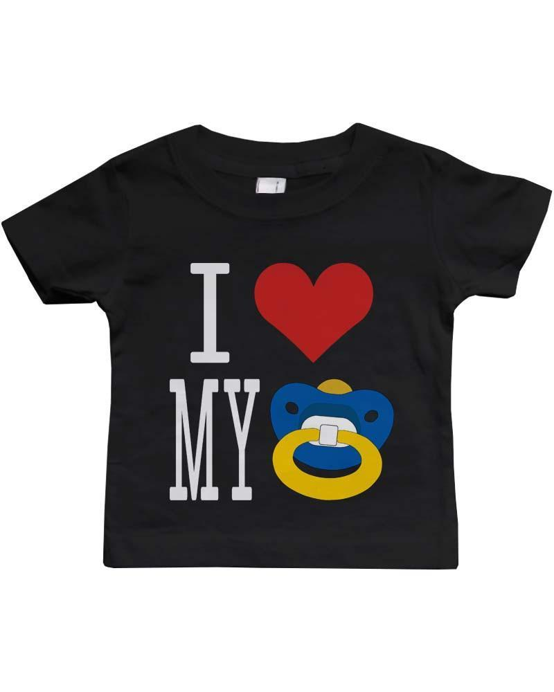 I Love My Pacifiers Funny Black Baby Shirt Great Gift Ideas