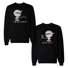 Mummies Couple Sweatshirts Cute Halloween Matching Sweat Shirts