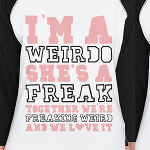 Weirdo Freak BFF Matching Baseball Jerseys Funny Best Friend Gifts