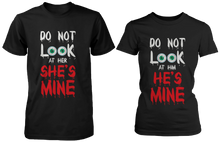 Do Not Look At Her & Him Creepy Eyeballs Matching Couple Shirts (Set)