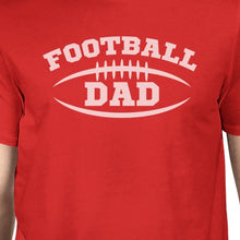 Football Dad Men's Red Short Sleeve Top Unique Gifts For Father Day