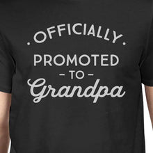 Officially Promoted To Grandpa Mens Black Shirt