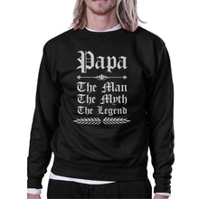 Vintage Gothic Papa Mens/Unisex Fleece Sweatshirt For Fathers Day