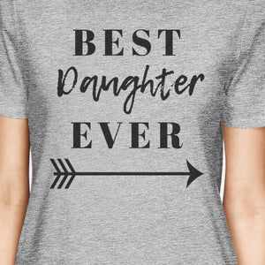 Best Daughter & Mother Ever Gray Graphic Tops For Mom And Daughter