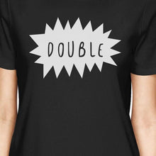 Double Trouble BFF Matching Black Shirts