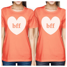 Bff Hearts BFF Matching Peach Shirts