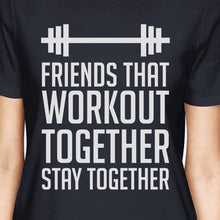 Friends That Workout Together BFF Matching Navy Shirts