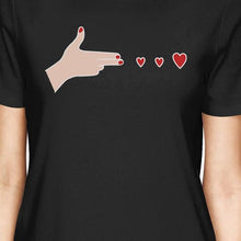 Gun Hands With Hearts BFF Matching Black Shirts