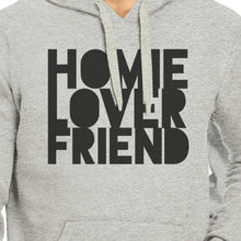 Homie Lover Friend Matching Couple Grey Hoodie