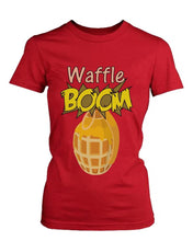Grenade Waffle Boom Funny Graphic Design Printed Cute Women's Shirt