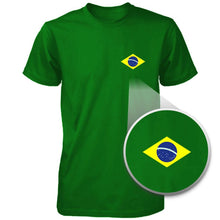 Brazil Flag Funny Graphic Design Printed Men's Shirt