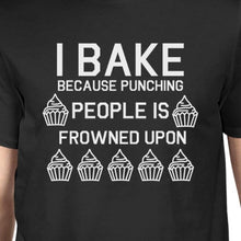 Punching People Is Frowned Upon Men's Black Shirts Funny T-shirt