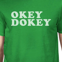 Okey Dokey Men's Kelly Green Cotton T-Shirt Funny Graphic Shirt