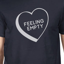 Feeling Empty Heart Mens Navy Crewneck Cotton TShirt Unique Graphic