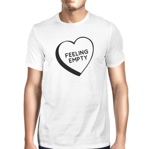 Feeling Empty Heart White Short Sleeve Round Neck T-Shirt For Men