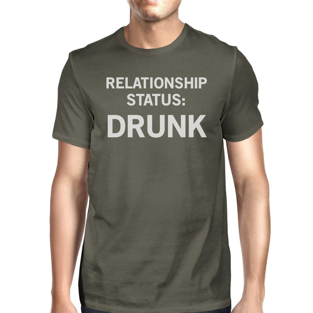 Relationship Status Mens Dark Grey Funny Graphic Witty Quote TShirt