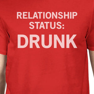 Relationship Status Red T-Shirt Funny Design Comfortable Men's Top