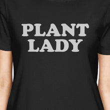 Inc Plant Lady Women's Black Short Sleeve Top Simple Letter Printed