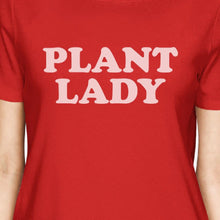 Inc Plant Lady Women's Red Short Sleeve Top Cute Graphic Shirt