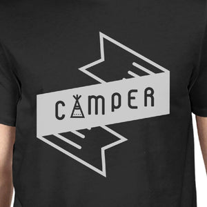Camper Mens Black Short Sleeve T-Shirt Witty Gift For Hiking Lovers