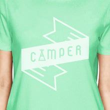 Camper Mint Cute Graphic Short Sleeve Cotton Summer Tee For Women