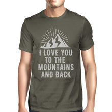 Mountain And Back Men's Dark Grey T Shirt Cute Gift Idea For Him