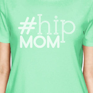 Hip Mom Womens Mint Cotton Shirt Simple Design Cute Gifts For Her