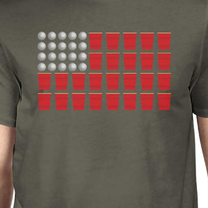 Beer Pong American Flag Humorous T-Shirt Ideas For Fourth of July
