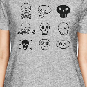 Skulls Womens Grey Shirt