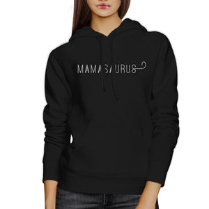 Mamasaurus Black Unisex Simple Design Cute Hoodie For Boys Mom