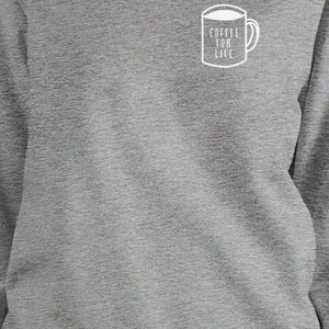 Coffee For Life Unisex Black Sweatshirt For Coffee Lovers Gift Idea