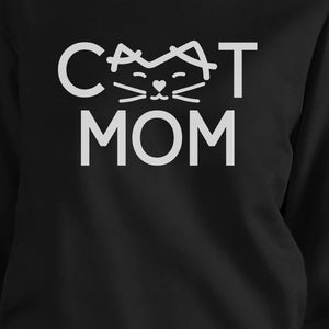 Cat Mom Black Unisex Pullover Sweatshirt Gift Ideas For Cat Lovers