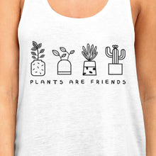 Plants Are Friends Unique Graphic Tank Top Cute Gift Idea For Her