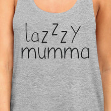 Lazzzy Mumma Women's Gray Funny Graphic Tanks Gift Ideas For Her
