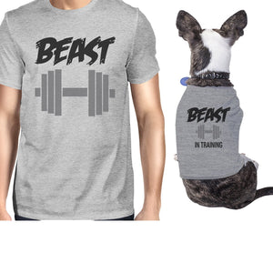 Beast In Training Small Dog and Owner Matching Shirts Dog Mom Gifts