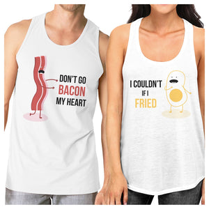 Bacon And Egg Matching Couple Tank Tops Set For Funny Couples Gifts